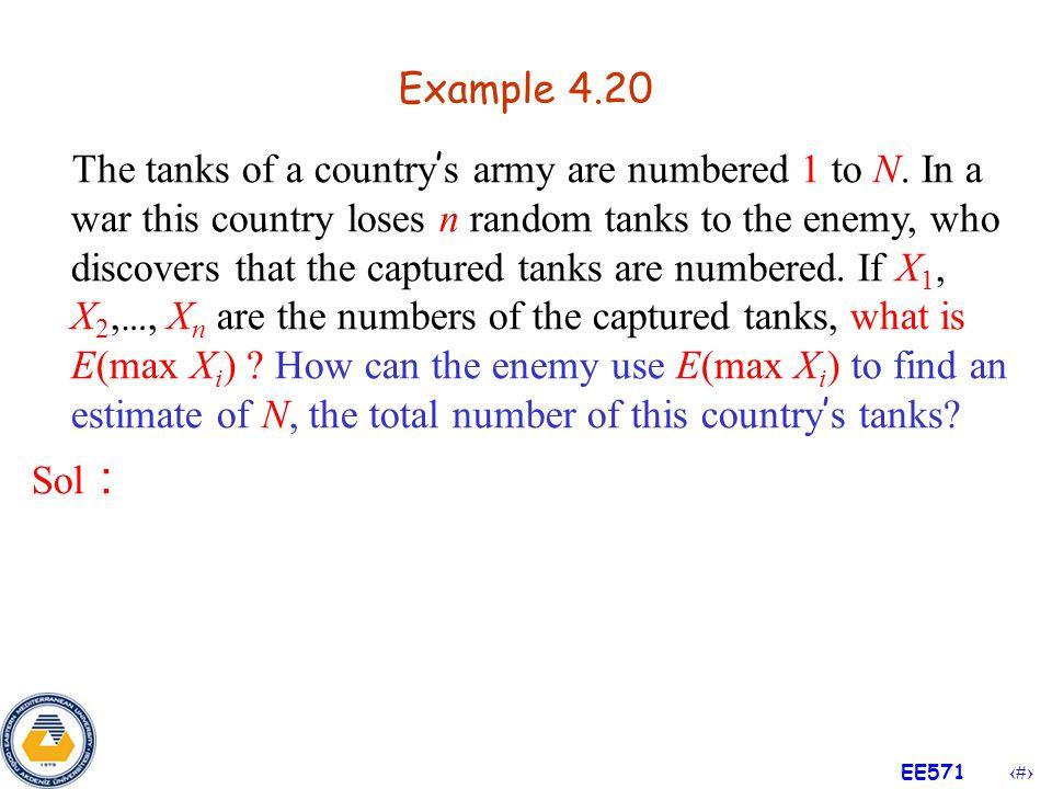 32 EE571 Example 4.19 (Cont'd) Sol :