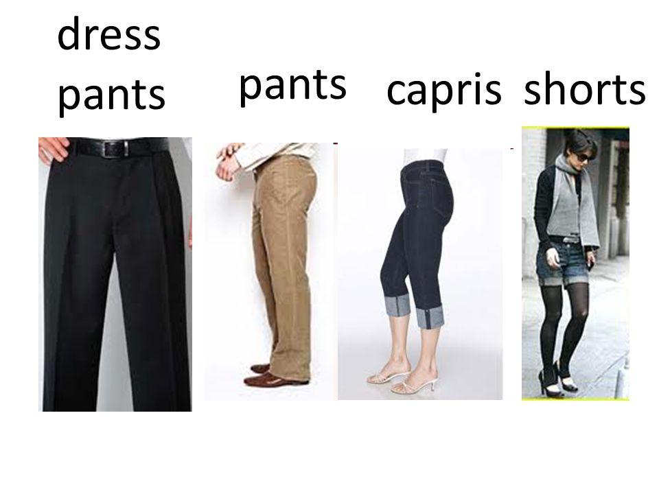 pants caprisshorts dress pants