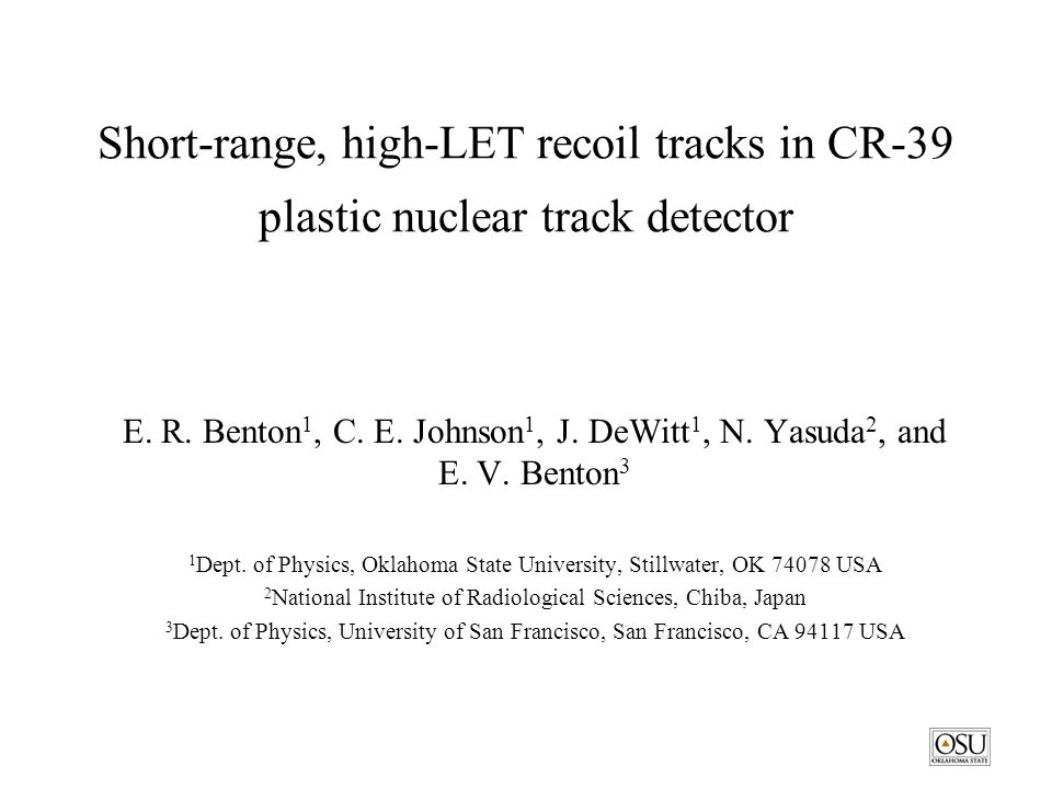 Short-range, high-LET recoil tracks in CR-39 plastic nuclear track detector E.
