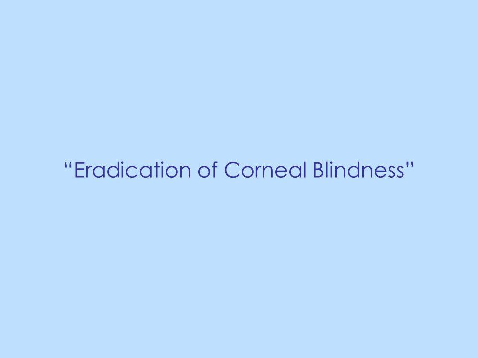 Eradication of Corneal Blindness