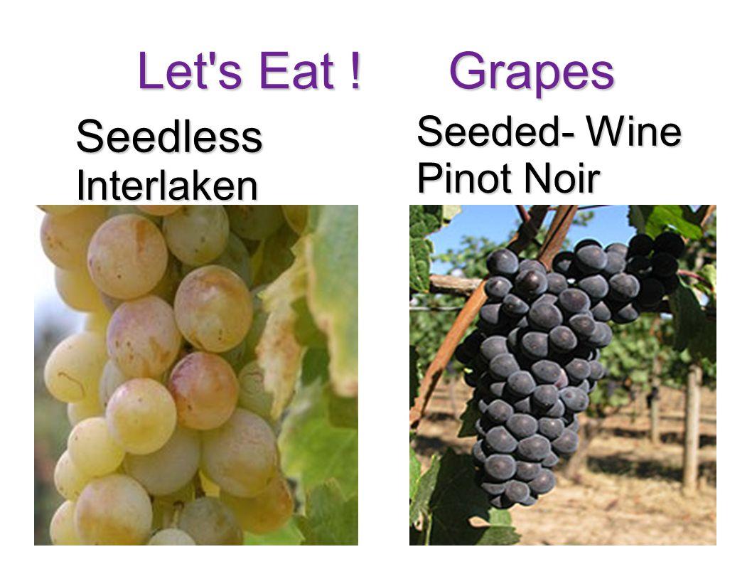 Let's Eat ! Grapes SeedlessInterlaken Seeded- Wine Pinot Noir