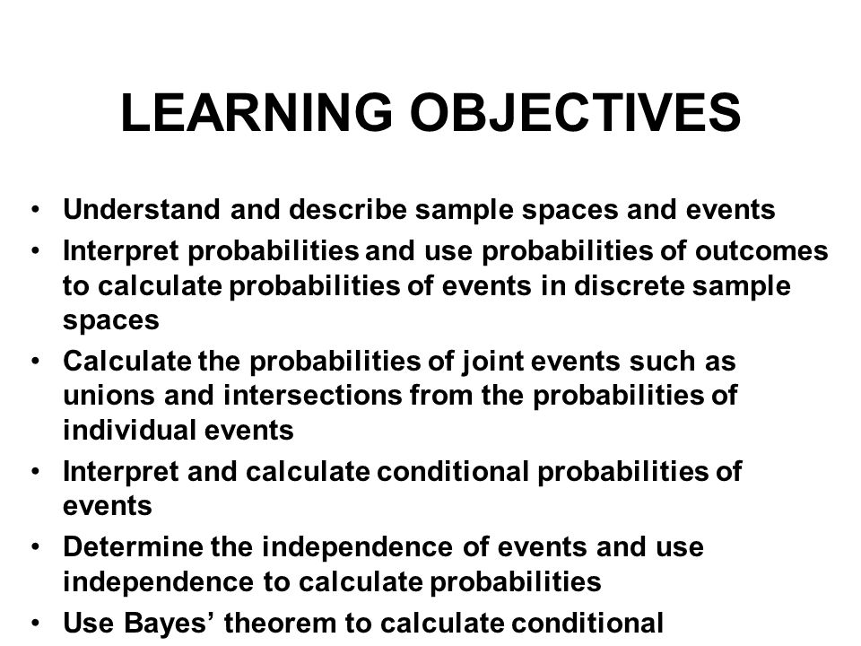 Sample Space and Events An experiment is any action or process that generates observations The sample space of an experiment, denoted S, is the set of all possible outcomes, or sample points.