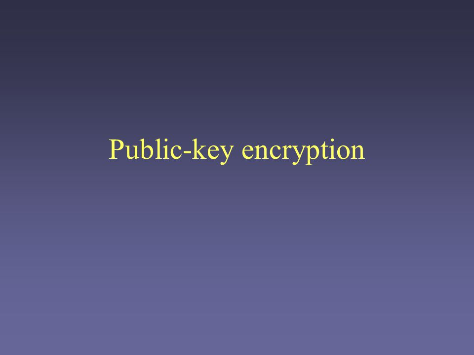 Public-key encryption