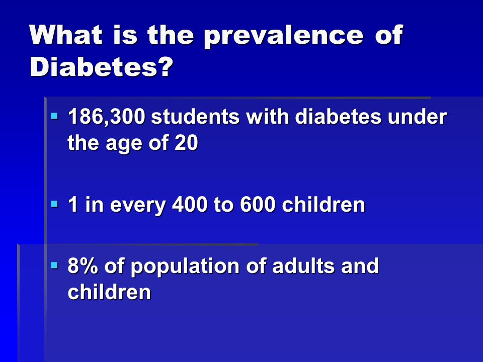 What is the prevalence of Diabetes.