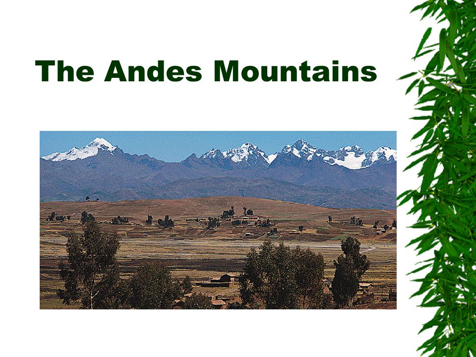 Brief History South America has nearly every type of landscape and climate.
