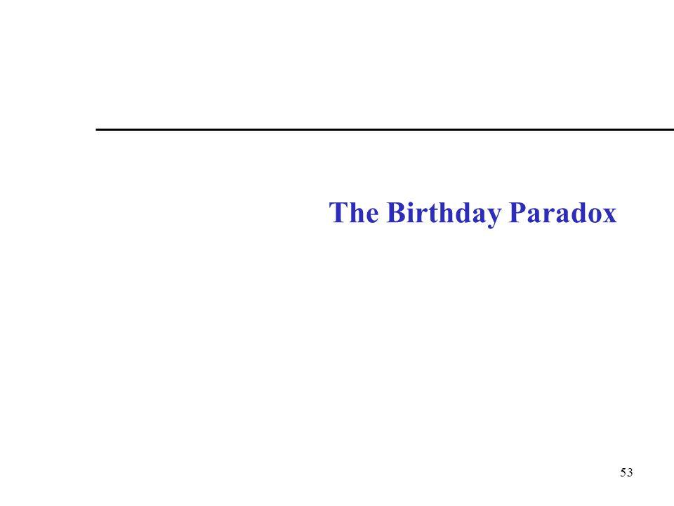 53 The Birthday Paradox