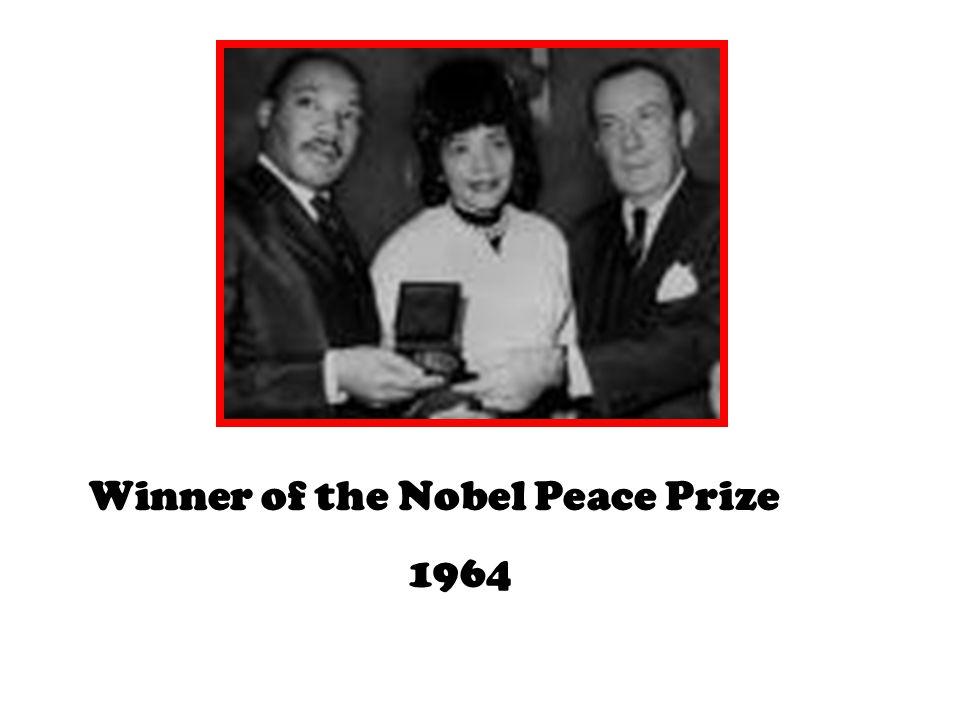 Winner of the Nobel Peace Prize 1964