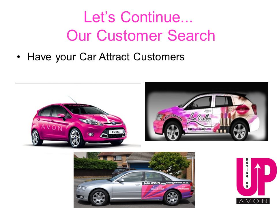 Let's Continue... Our Customer Search Have your Car Attract Customers