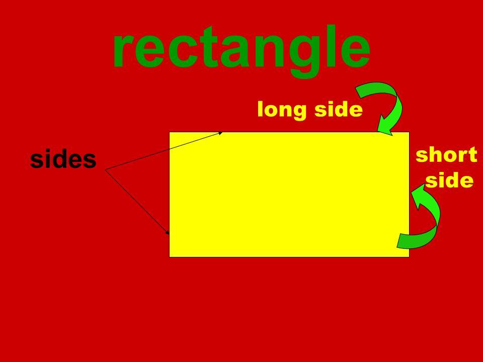 rectangle sides long side short side