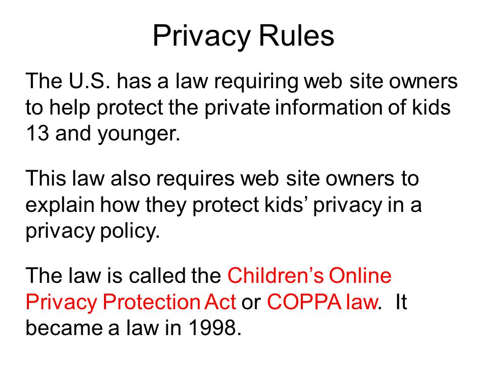 Privacy Rules The U.S.