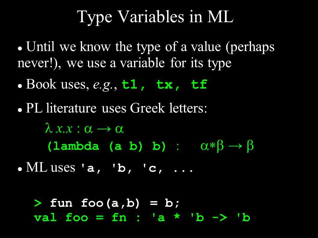 Recall: fun reverse(nil) = nil | reverse(x::t) = reverse(t) @ [x]; ML: Let s Write...