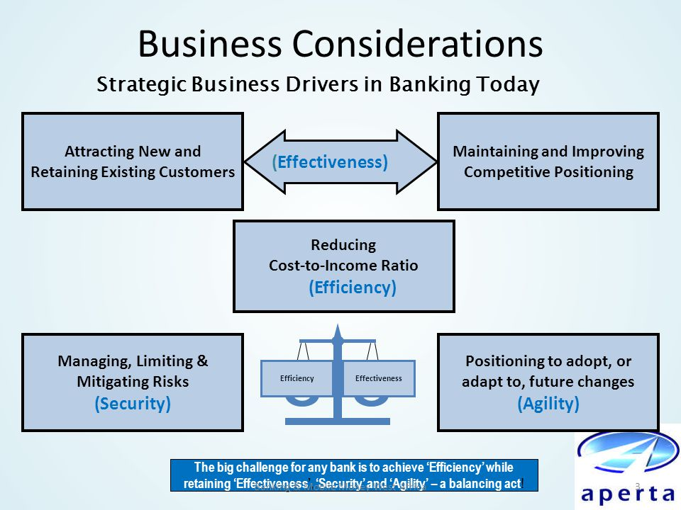 Business Considerations Attracting New and Retaining Existing Customers Maintaining and Improving Competitive Positioning Managing, Limiting & Mitigat