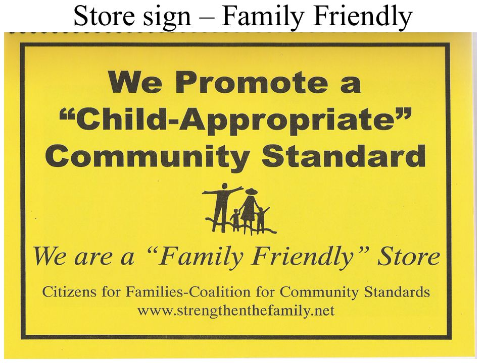 24 Store sign – Family Friendly