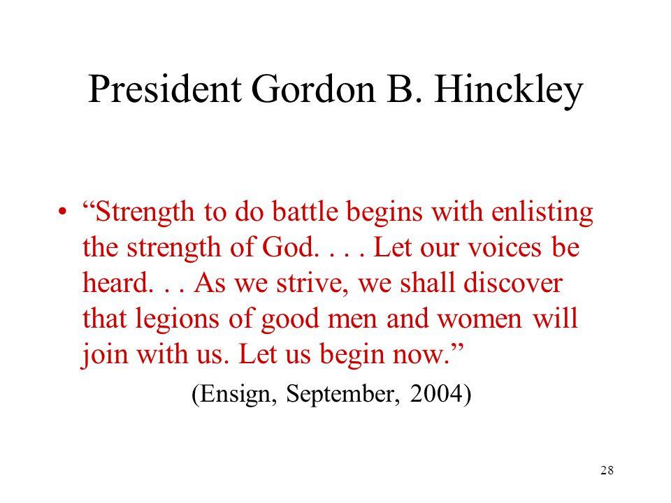 28 President Gordon B.