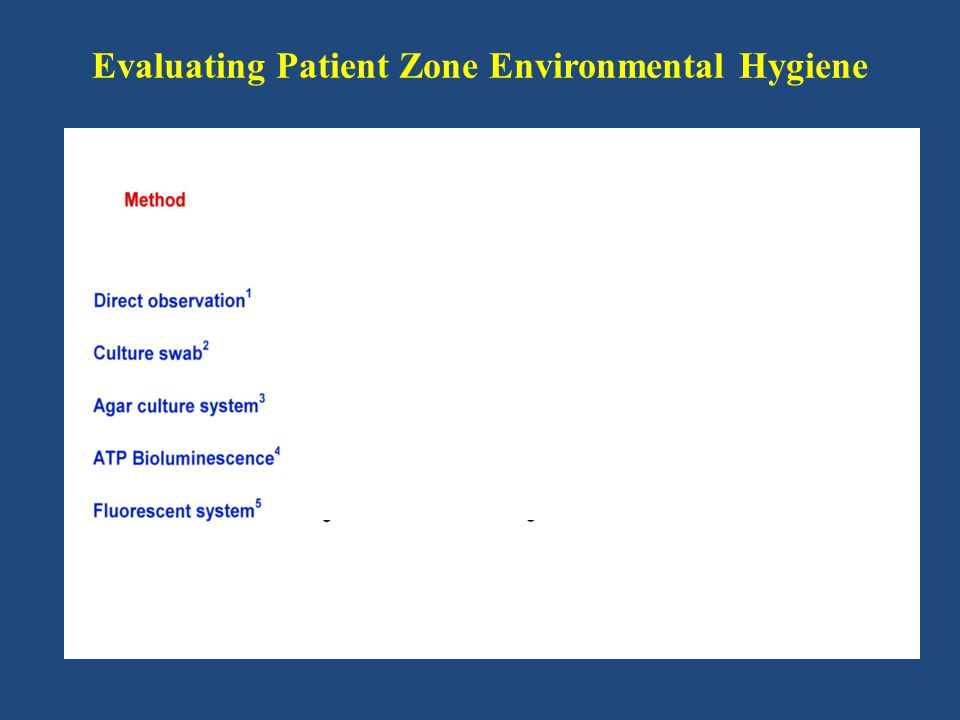 Evaluating Patient Zone Environmental Hygiene