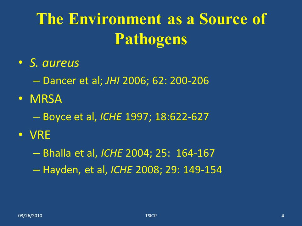 The Environment as a Source of Pathogens S.