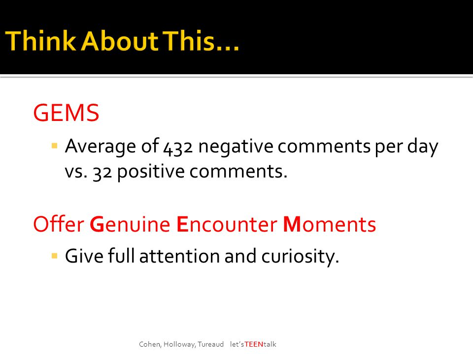GEMS  Average of 432 negative comments per day vs.
