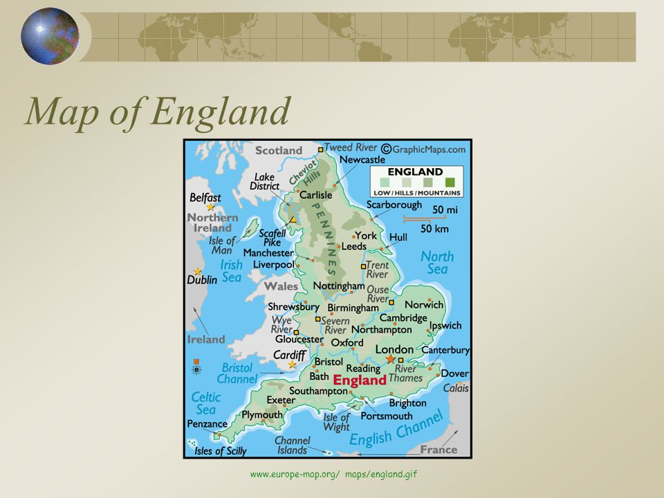 Map of England www.europe-map.org/ maps/england.gif
