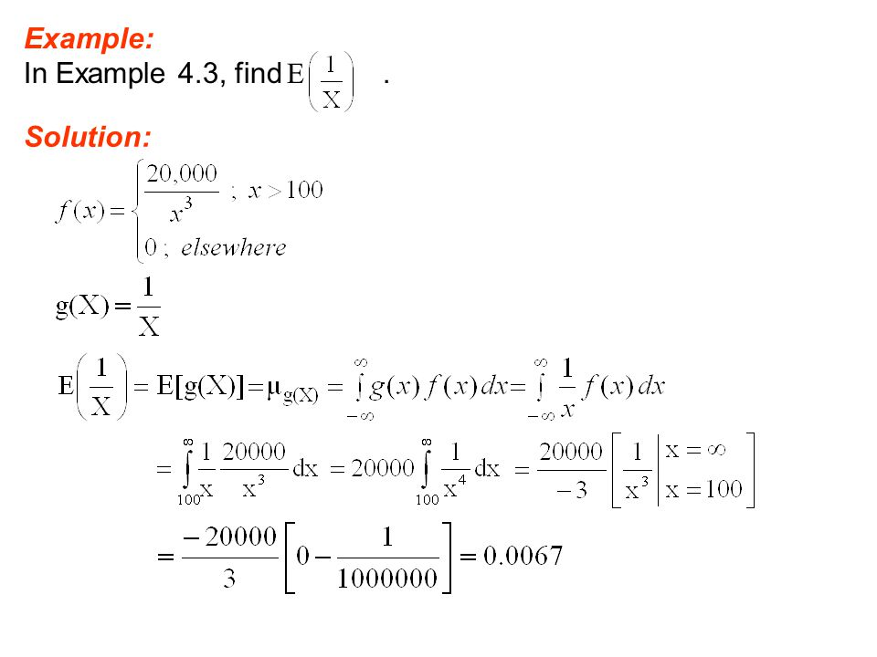 Example: In Example 4.3, find E. Solution: