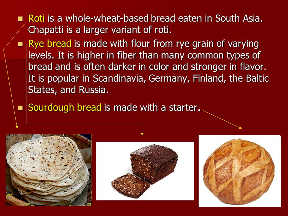 Roti is a whole-wheat-based bread eaten in South Asia. Chapatti is a larger variant of roti. Roti is a whole-wheat-based bread eaten in South Asia. Ch