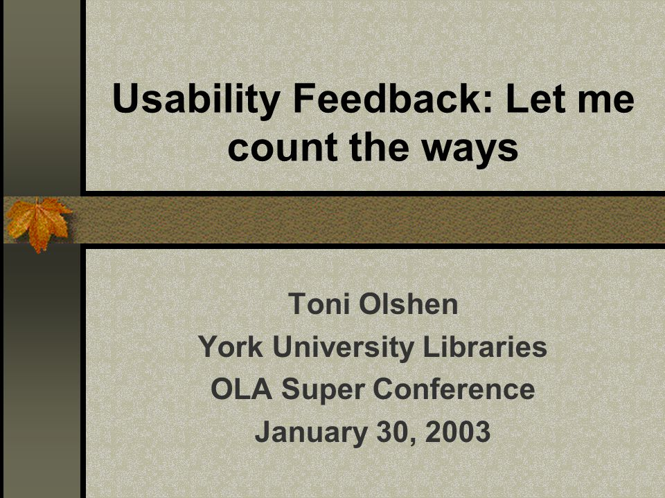Objective of web usability research To meet the users' needs for quick access to answers by simplifying the website