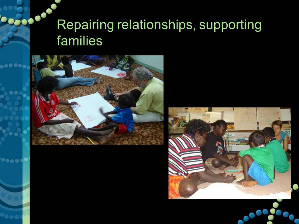 Repairing relationships, supporting families