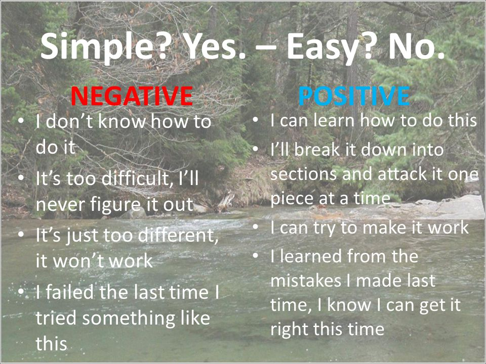 Simple. Yes. – Easy. No.