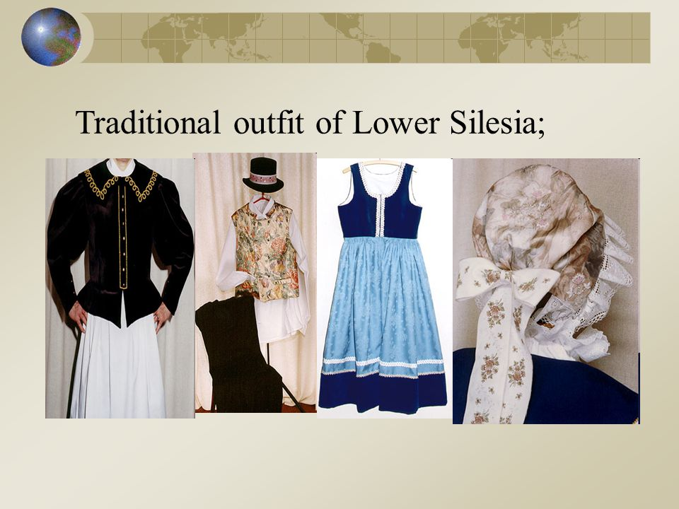 Traditional outfit of Lower Silesia;