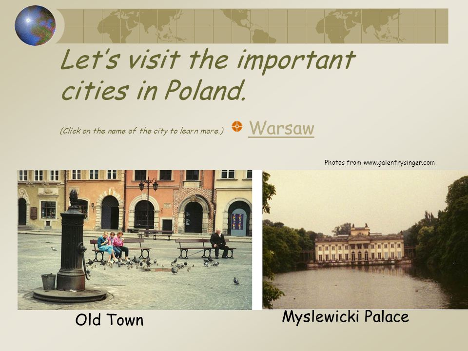 Let's visit the important cities in Poland.