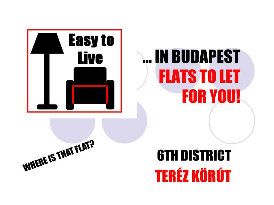 … IN BUDAPEST FLATS TO LET FOR YOU! 6TH DISTRICT TERÉZ KÖRÚT WHERE IS THAT FLAT