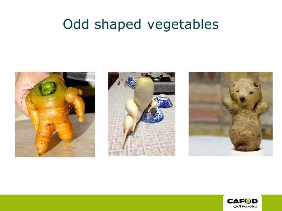 Odd shaped vegetables