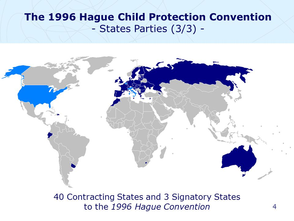 5 Overall objectives: To provide for the better protection of children in cross- border situations – under civil, not criminal, law To improve co-operation among States for the protection of vulnerable children To avoid conflicts between legal systems in decisions concerning child protection The 1996 Hague Child Protection Convention - Overview (1/5) -