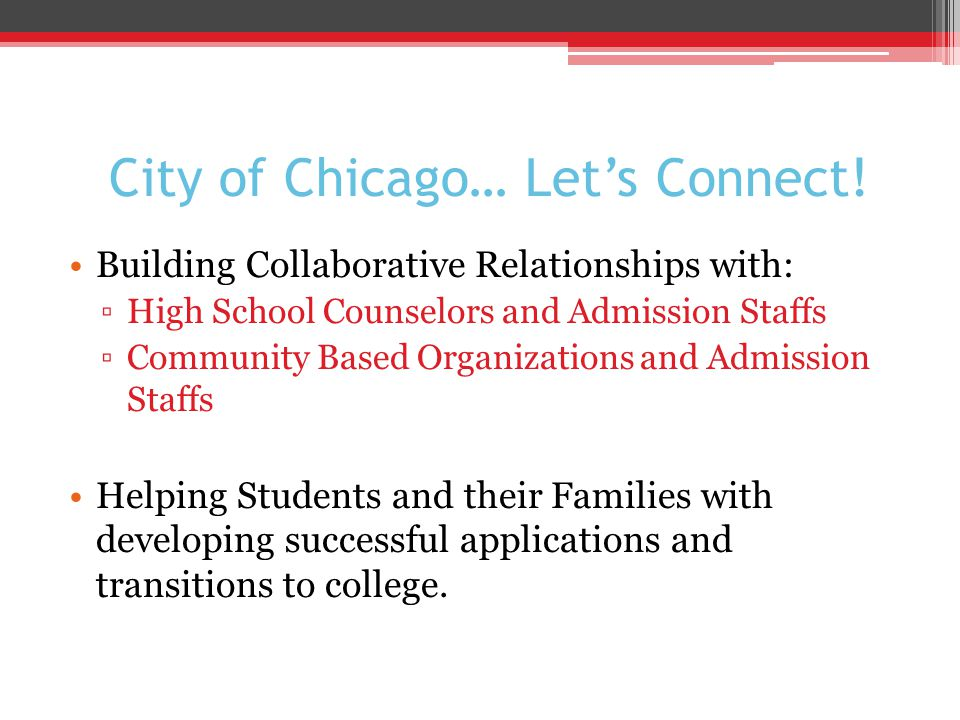 City of Chicago… Let's Connect.