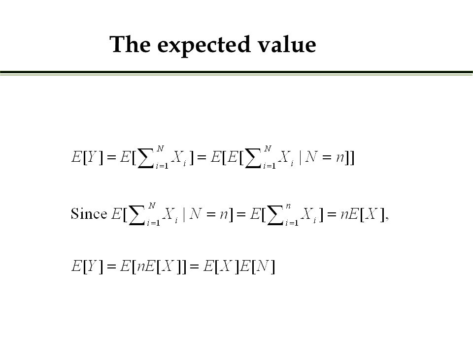 The expected value