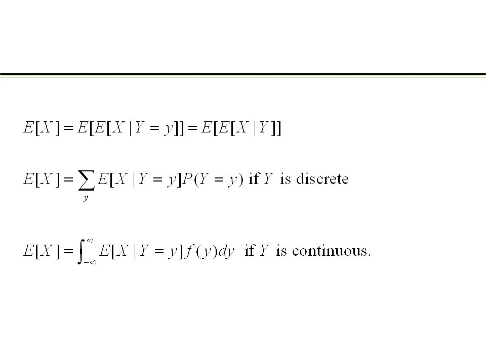 Let E denote some event. Define a random variable X by Computing probabilities by conditioning