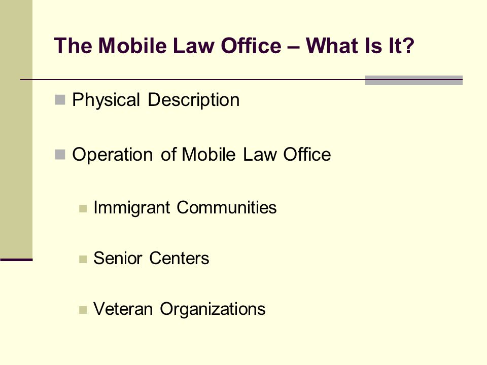 The Mobile Law Office – What Is It.