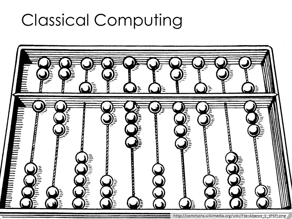 Classical Computing http://commons.wikimedia.org/wiki/File:Abacus_1_(PSF).png