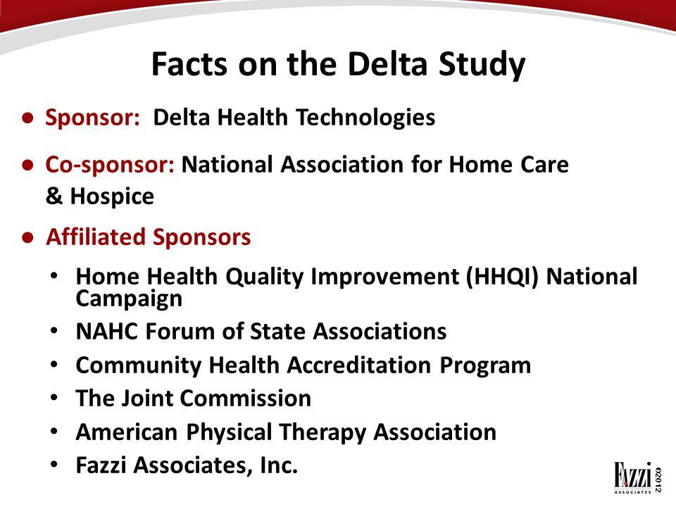 ©2012 ● Sponsor: Delta Health Technologies ● Co-sponsor: National Association for Home Care & Hospice ● Affiliated Sponsors Home Health Quality Improv