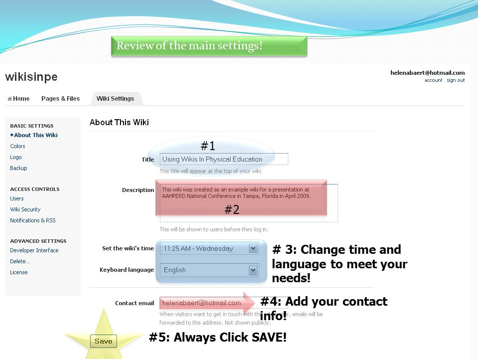 All 5 steps. #1 #2 # 3: Change time and language to meet your needs.