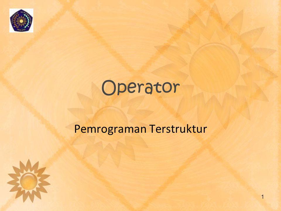 Operator Pemrograman Terstruktur 1