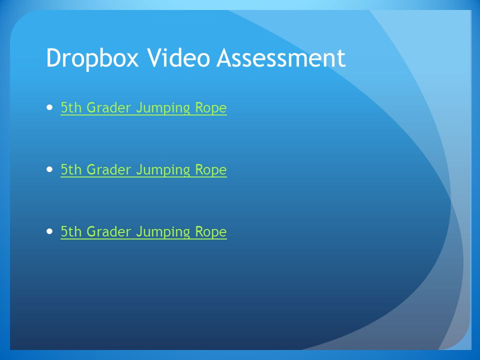 Dropbox Video Assessment 5th Grader Jumping Rope