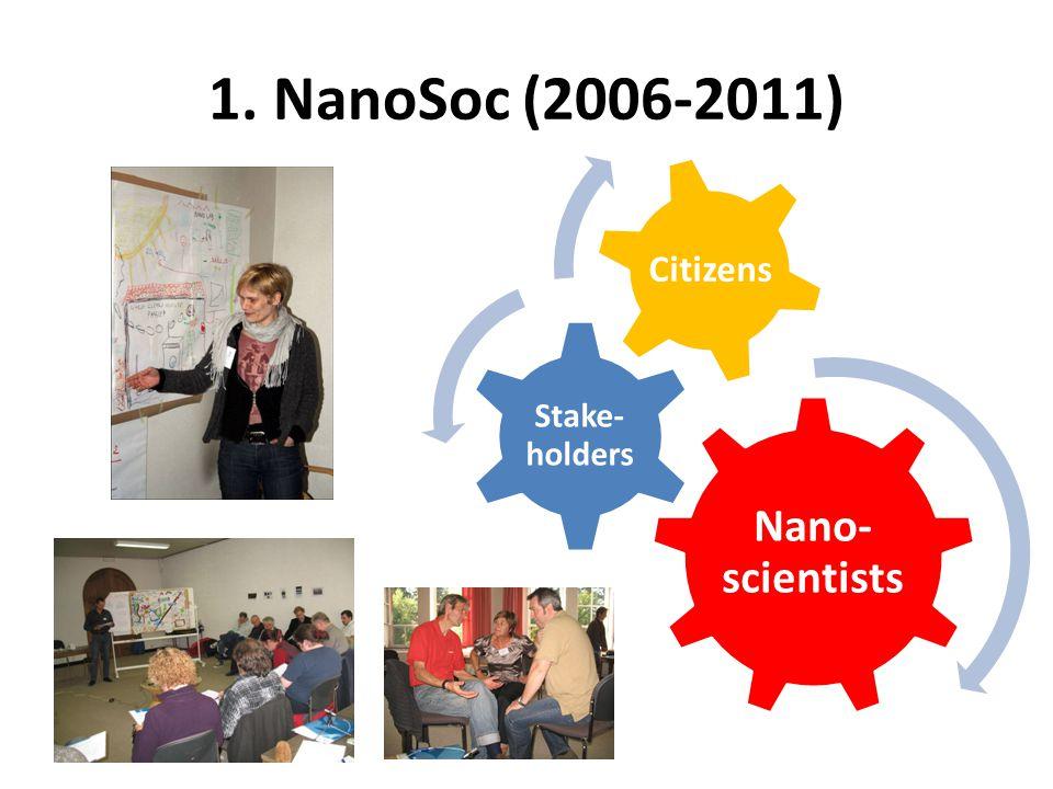 1. NanoSoc (2006-2011) Nano- scientists Stake- holders Citizens