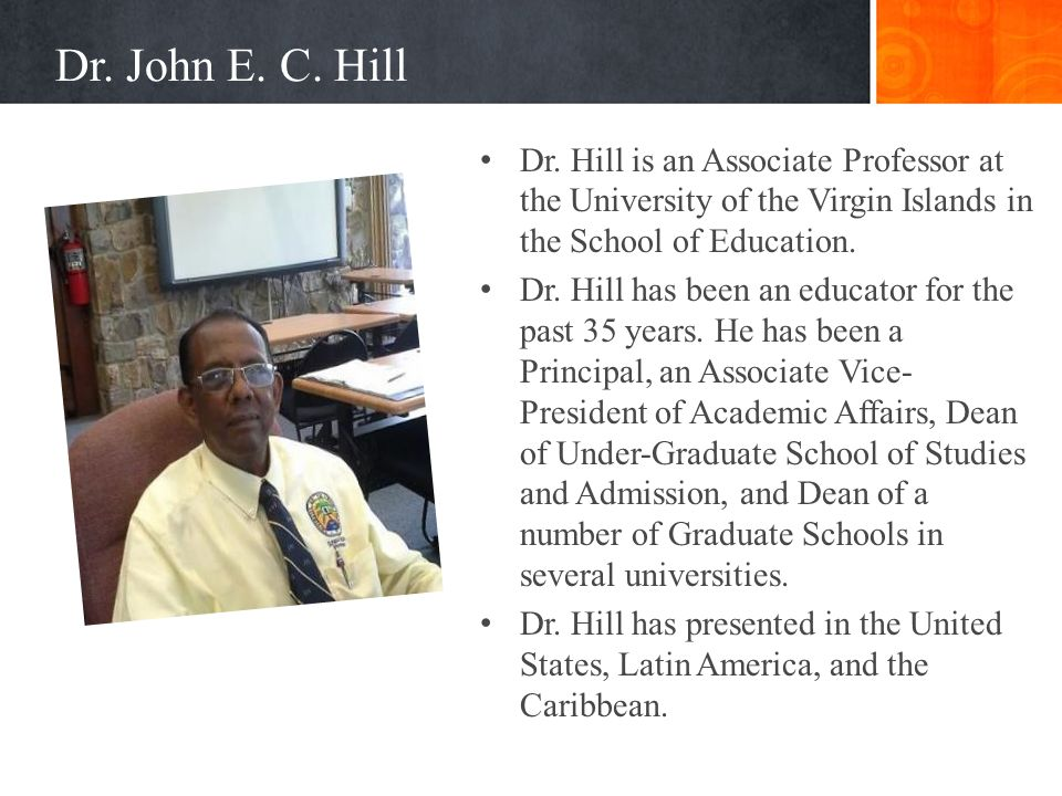 Dr.John E. C. Hill Dr.
