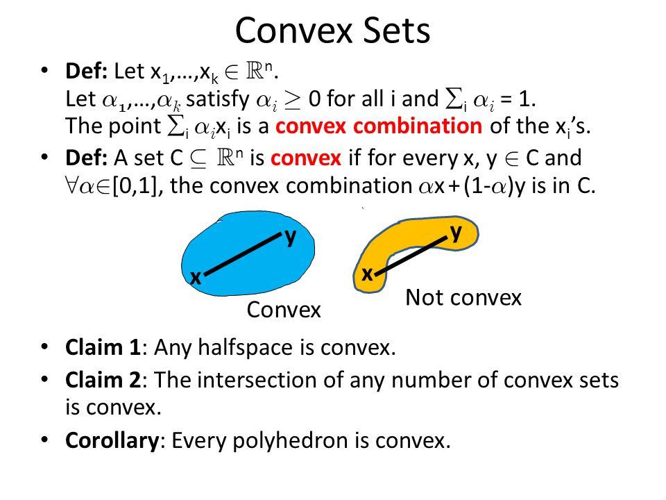 Linear Transformations of Polyhedra Lemma: Let P = { x : Ax · b } µ R n be a polyhedron.