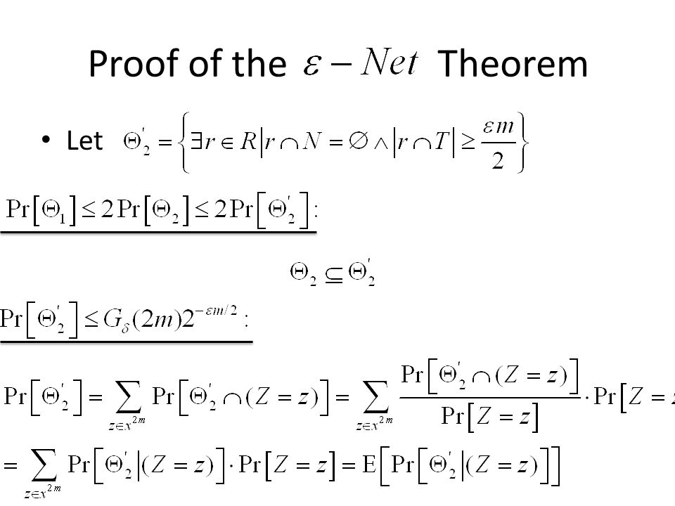 Let Proof of the Theorem