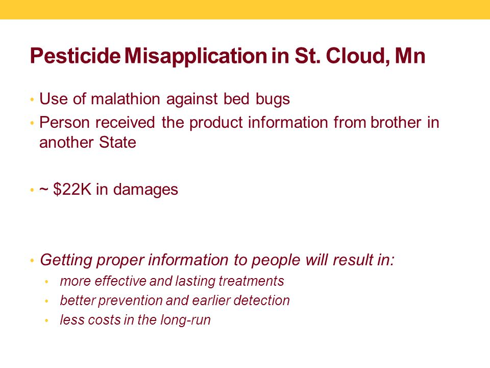 Pesticide Misapplication in St.