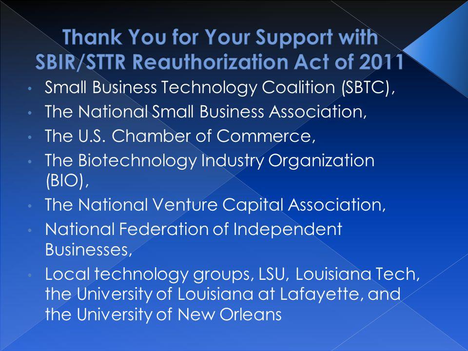 Small Business Technology Coalition (SBTC), The National Small Business Association, The U.S.