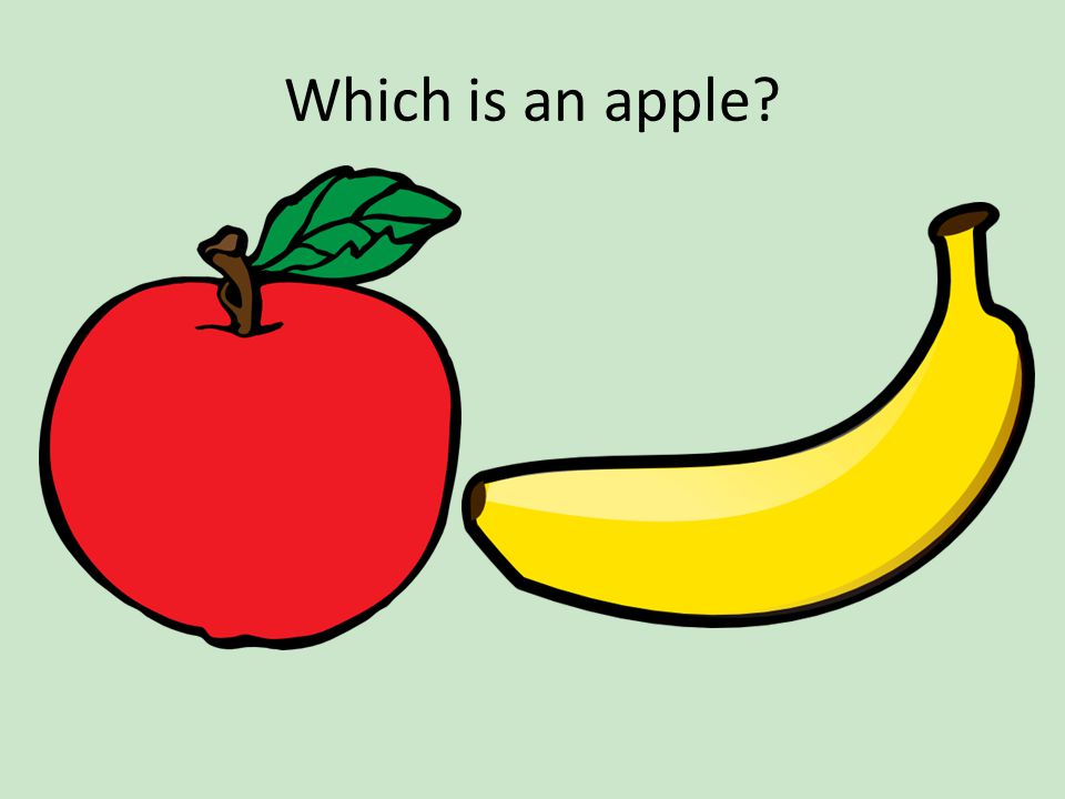 Which is an apple?