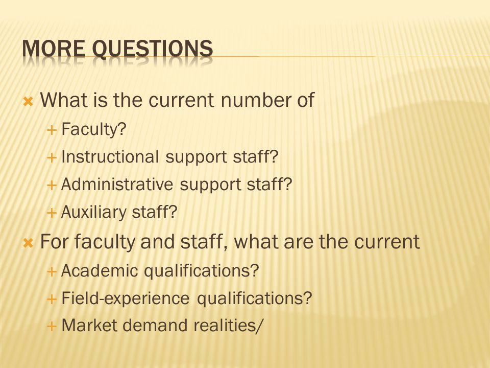  What is the current number of  Faculty?  Instructional support staff?  Administrative support staff?  Auxiliary staff?  For faculty and staff,