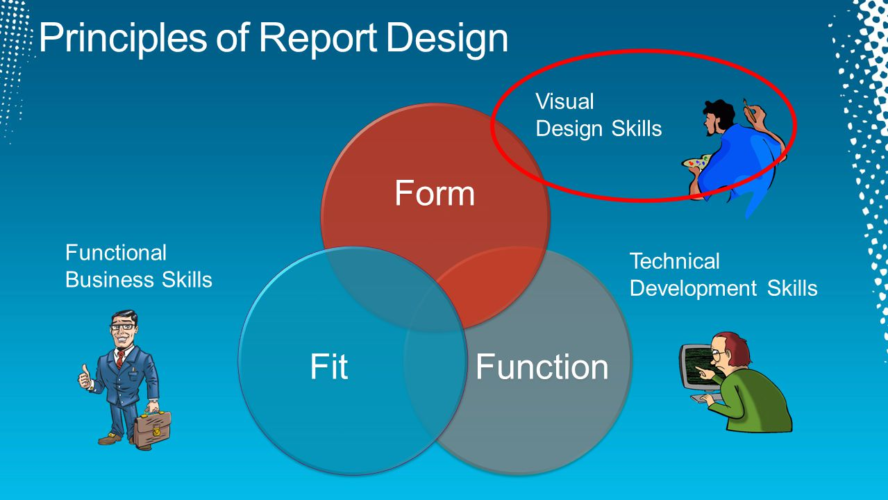 Function Form Fit Visual Design Skills Functional Business Skills Technical Development Skills